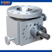 Three functional segments of the melt pump extruder
